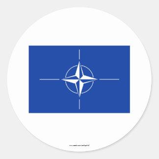NATO Flag Classic Round Sticker