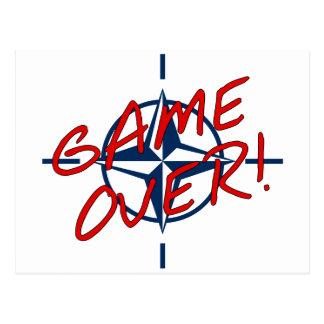 NATO Game Over - resist war Postcard