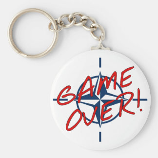NATO Game Over - stop war Keychain