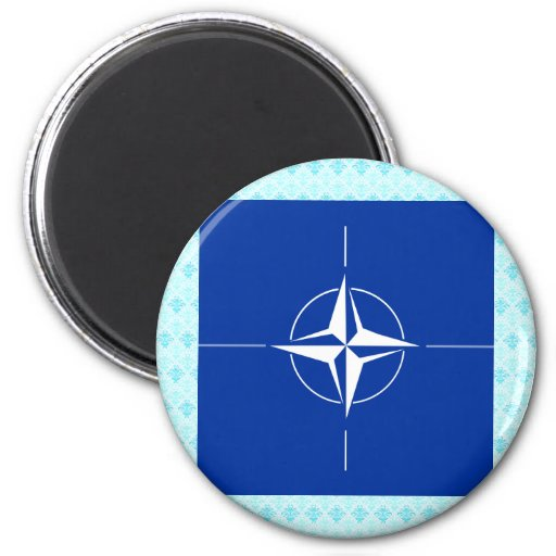 Nato High quality Flag 2 Inch Round Magnet