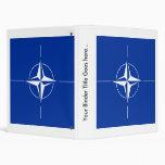Nato High quality Flag 3 Ring Binders