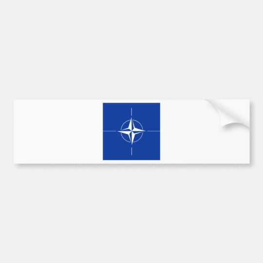 Nato High quality Flag Bumper Sticker