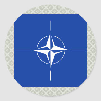 Nato High quality Flag Round Stickers