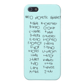 NATO phonetic alphabet Cover For iPhone SE/5/5s