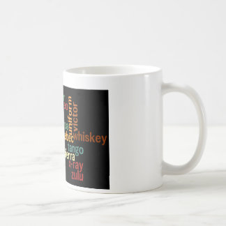 NATO Phonetic Alphabet Dark Background Mug