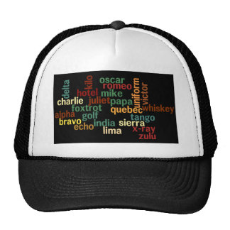 NATO Phonetic Alphabet (Dark Background) Trucker Hat
