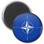 Nato quality Flag Circle 2 Inch Round Magnet