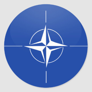 Nato quality Flag Circle Classic Round Sticker