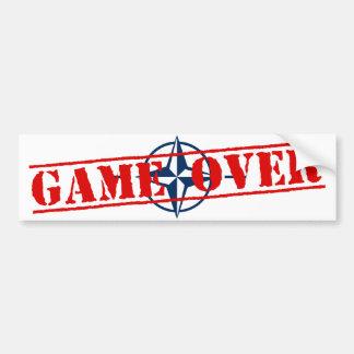 NATO Sign Red Letters Game Over Bumper Sticker