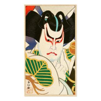 Natori Shunsen Bando Hikosaburo Thirty-six Kabuki Business Card Template
