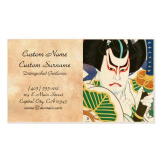 Natori Shunsen Bando Hikosaburo Thirty-six Kabuki Business Cards