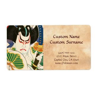 Natori Shunsen Bando Hikosaburo Thirty-six Kabuki Label