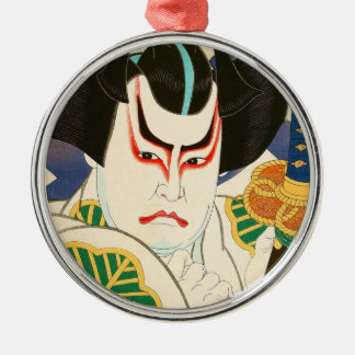 Natori Shunsen Bando Hikosaburo Thirty-six Kabuki Metal Ornament