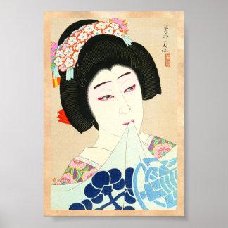 Natori Shunsen New Portraits of Kabuki Actors Poster