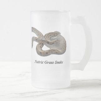 Natrix Grass Snake 16 Oz Frosted Glass Beer Mug