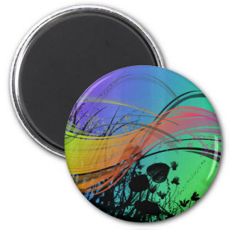 Natrual Abstract Design 2 Inch Round Magnet