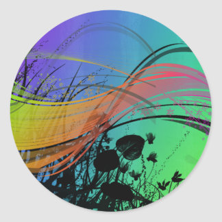 Natrual Abstract Design Classic Round Sticker