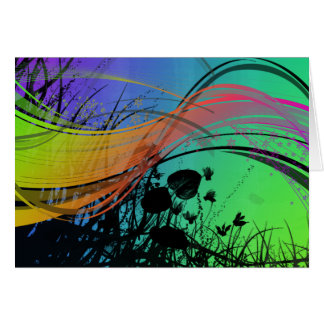 Natrual Abstract Design Greeting Cards