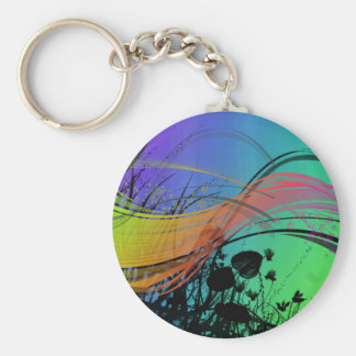 Natrual Abstract Design Keychain
