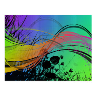 Natrual Abstract Design Postcard