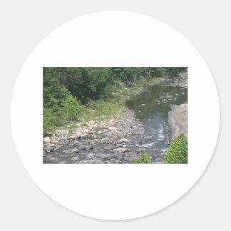 natrual bridge pic 117 classic round sticker