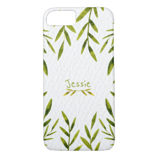Natrual, Green Leaves Customized iPhone 7 Case
