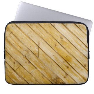 Natrual Wooden beam design laptop Sleeve