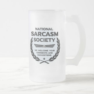 Natsarcsoc - Comments Frosted Glass Beer Mug