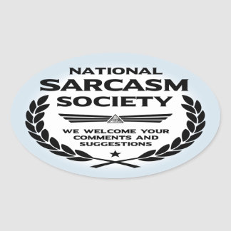 Natsarcsoc - Comments Oval Sticker