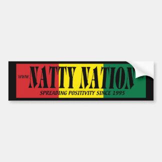 NATTY Bumper Sticker (positivity) Car Bumper Sticker