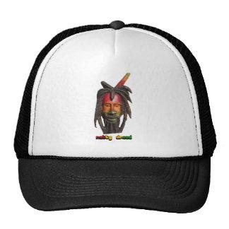 Natty Dread Rastaman With Dreadlocks Trucker Hat