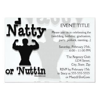 Natty or Nuttin Logo Wear 5x7 Paper Invitation Card