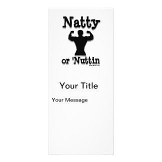 Natty or Nuttin Logo Wear Rack Card Template