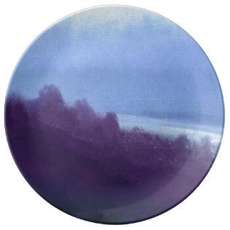natura azzura porcelain plate