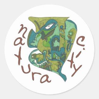 Natura City Classic Round Sticker