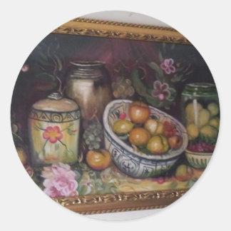 natura. classic round sticker