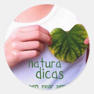 Natura Classic Round Sticker