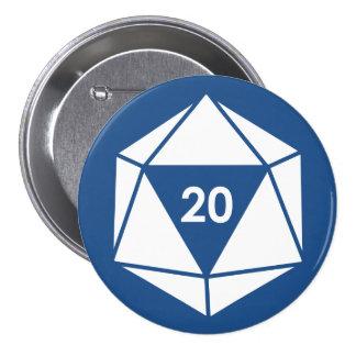Natural 20! pinback button