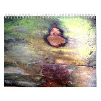 Natural Abstract On Bark Calendar