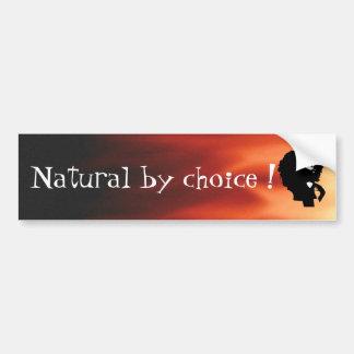 Natural afro chick illustration car bumper sticker