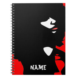 Natural afro chick illustration notebook