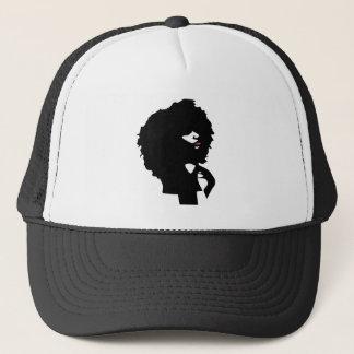 Natural afro hair illustration trucker hat