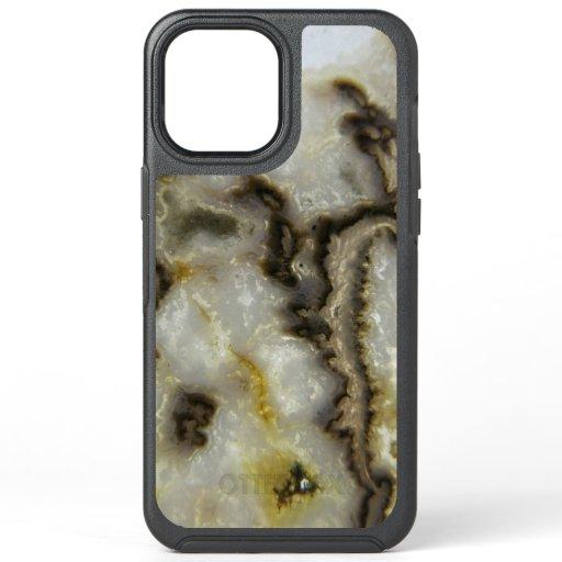 Natural Agate Stone, Authentic Colors & Design OtterBox Symmetry iPhone 12 Pro Max Case