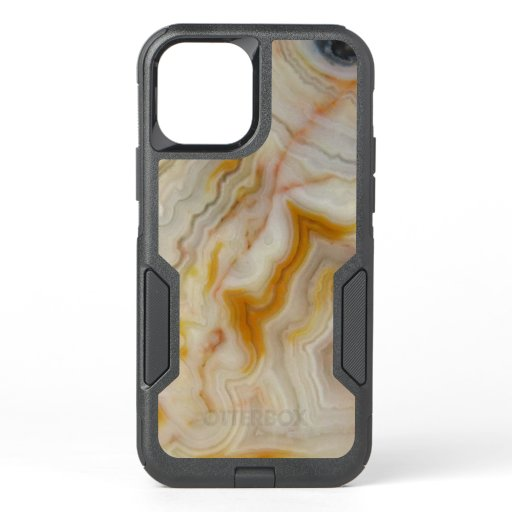 Natural Agate Stone, Authentic Colors & Design OtterBox Commuter iPhone 12 Case