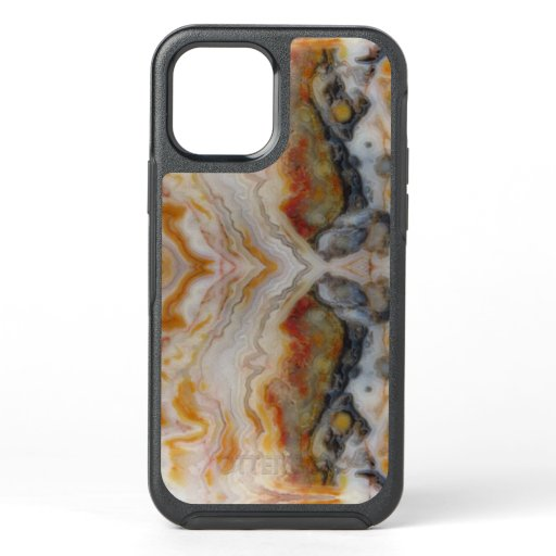Natural Agate Stone, Authentic Colors & Design OtterBox Symmetry iPhone 12 Case