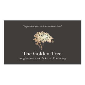 Natural and Alternative Health & Wellness Tree Business Cards