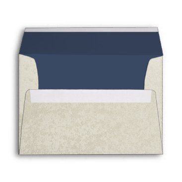 Beach Themed Natural and Navy Envelope