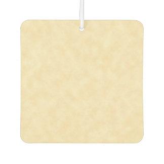 Natural Antique Parchment Paper Look Car Air Freshener