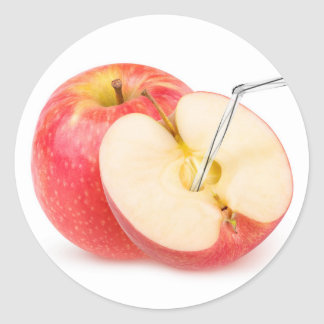Natural apple juice classic round sticker