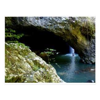 Natural Arch waterfall Postcard